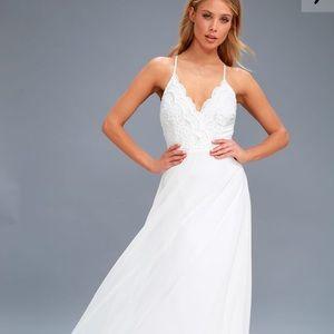 LuLu's Madalyn White Maxi Dress
